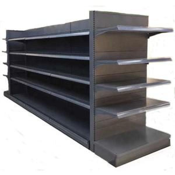 Retail Store Double Sided Black Cheap Metal Pegboard Rack Merchandise Display Supermarket Gondola Shelf